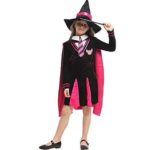 KLJJQAQ Halloween Cosplay Kostuum Kinderen Heks Mantel Magic Kostuums