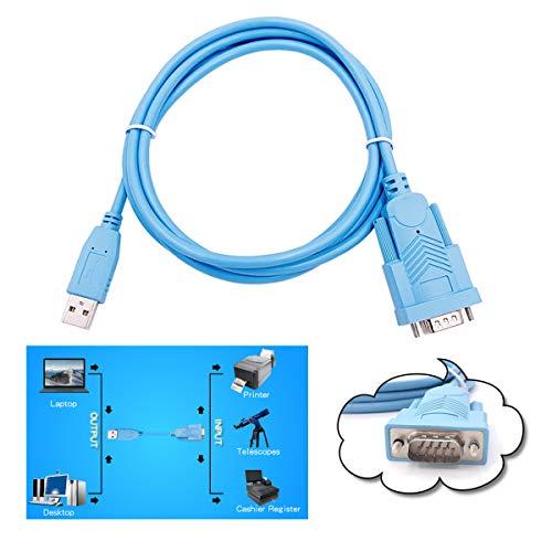 Cavo adattatore per porta seriale DB9 da USB 2.0 a RS232, supporto per Windows10 / 8/7, Vista, XP, 2000,98, Linux e Mac OS per cassa registratore, con chipset FTDI da 1,83m