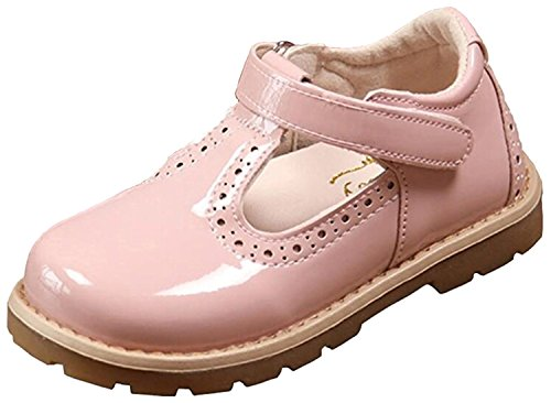 DADAWEN Chaussures de Princesse/Ballerines pour Filles Rose 22