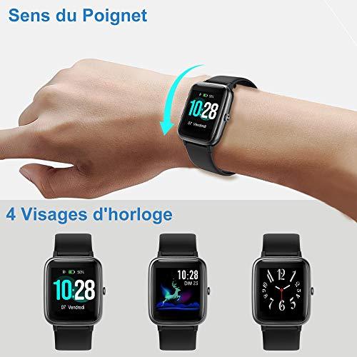 YAMAY Montre Connectée Femmes Homme Smartwatch Tactile Bracelet Connecté Etanche Sport Podometre...