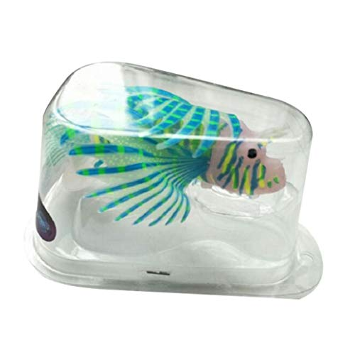 Bontand Artificial Pez León Luminoso Fake Plastic Tanque Adorno De Peces Que Nadan Los Pescados del Acuario Glow Simulación Decoración Animal