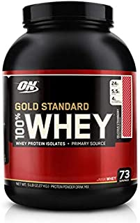 Optimum Nutrition Whey Gold Standard, Delicious Strawberry, 5 Lbs, 73 Servings