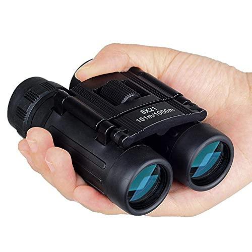 DCLINA 8x21 Zoom Mini binoculares Bolsillo Plegables Telescopio 8X Binocular portátil Observación...