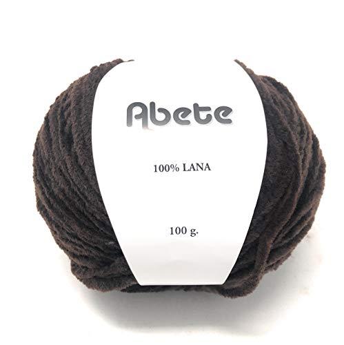 Chicca Tutto Moda Gomitolo per Lavoro a Maglia Ciniglia Ferri 6/7 100% Lana 100 Grammi 100m Alta qualità Made in Italy Abete (Marrone)