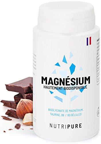 Magnésium Végétal + Vitamine B6 • Haute absorption & concentration (240mg /j) • Gélule végétale • Anti-Fatigue • Sans effet Laxatif • 100% Vegan • 60 gélules Biodisponibles Made in France • Nutripure