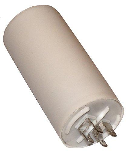 AERZETIX - Condensador Permanente para Trabajo de Motor - 30µF 450V - ⌀45/90mm - con 4 terminales - Cuerpo de Plástico Cilíndrico Blanco - C10513