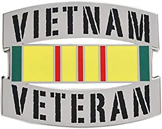 Medals of America Vietnam Veteran Officially Licensed Car Emblem Multicolored