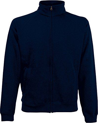 Fruit of the Loom Herren Premium Sweat Jacket Sportjacke, Blau (Deep Navy 202), X-Large