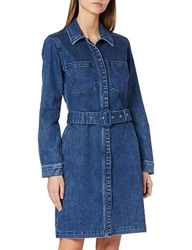 s.Oliver Damen Jeanskleid mit Taillengürtel dark blue 36