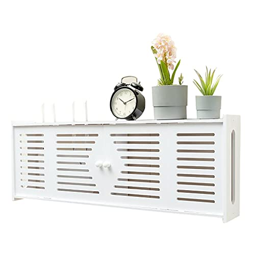 Storage boxes Router shelf living room bedroom wall bracket punch-free wireless router rack wall-mounted rack punch-free, strong load-bearing