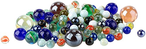 Playtastic Glasmurmeln: Mega-Murmelpaket mit 1 kg Murmeln, 15 - 32 mm (Murmel)