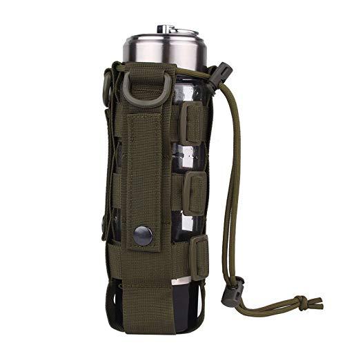 Tactical MOLLE Wasserflasche Beutel, 0.5L-2.5L Tactical Kettle Bag Outdoor Camping für Frauen Männer Laufen Wandern Reisen Jagd Bergsteigen (Dunkelgrün)