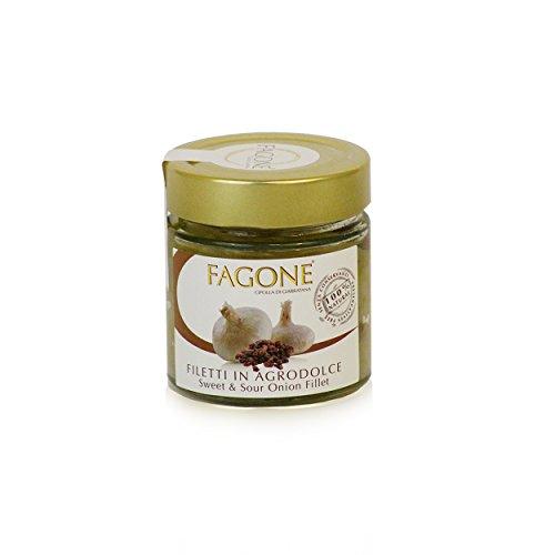 Fagone - Filetti di Cipolla In Agrodolce PRESIDIO SLOW FOOD, 190 gr