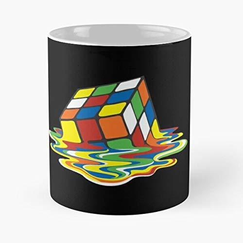 Rubik Cube 80 Game 80S Magic S La Mejor Taza de café de cerámica de mármol Blanco de 11 oz