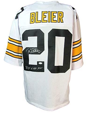 Rocky Bleier Steelers Signed/Inscr Custom White Football Jersey JSA 147463 - Autographed NFL Jerseys