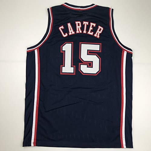 Unsigned Vince Carter New Jersey Blue Custom Stitched Basketball Jersey Size Men's XL New No Brands/Logos