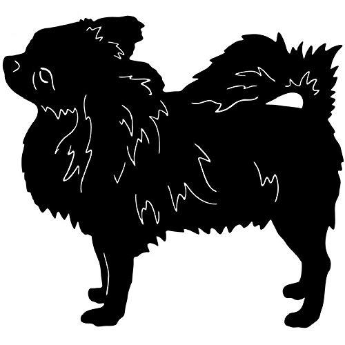 Schöner Autoaufkleber Langes Haar Chihuahua Hundezubehör Reflektierender Reflektierender Aufkleber, 12 cm * 14 cm