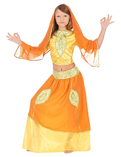 Generique - Disfraz de Princesa India Bollywood para niña - 5-7 años (128 cm)
