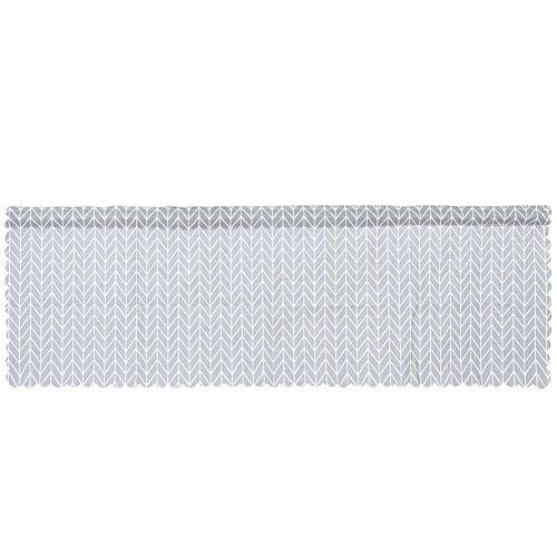 nobrands fönstergardin nordisk stil minimalistisk bomull linne halv fönster gardin för köksskåp (grå)