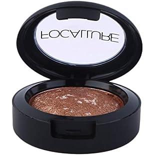 10 Colors Waterproof Long Lasting Optional Baked Silty Fine Powder Eyeshadow Palette in Shimmer Metallic Eyes