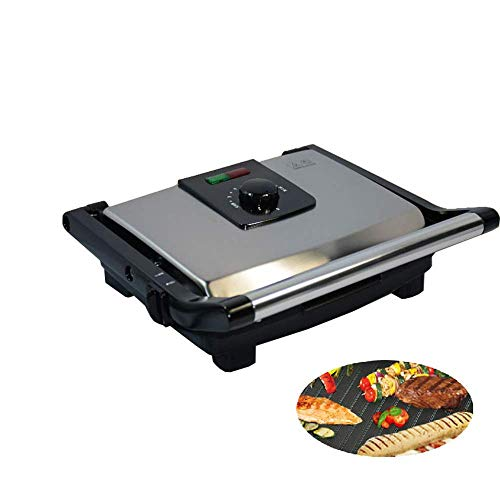 Panini Grillpresse, 2000W Electric-Grill Gourmet-Sandwichmaker aus Edelstahl, zwei Antihaft-Platten - ideal für Sandwiches, Fleisch, Fisch, Gemüse und mehr
