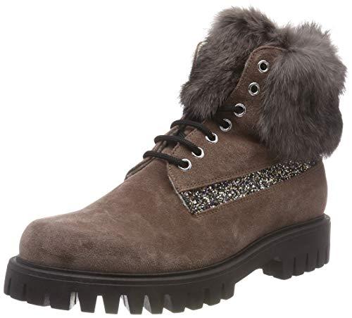 Pollini Damen Fox Combat Boots, Beige (Mud 20A), 40 EU