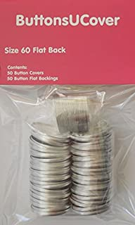 ButtonsUCover 50 Self Cover Buttons with Flat Backs Size 60