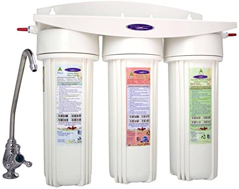 Crystal Quest CRYSTAL-QUEST-CQE-CT-00133 Triple Plus Countertop Fluoride Filter System Plastic