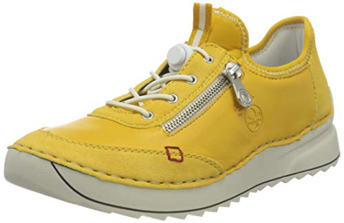 Rieker 51562, Zapatillas Mujer, Amarillo, 38 EU