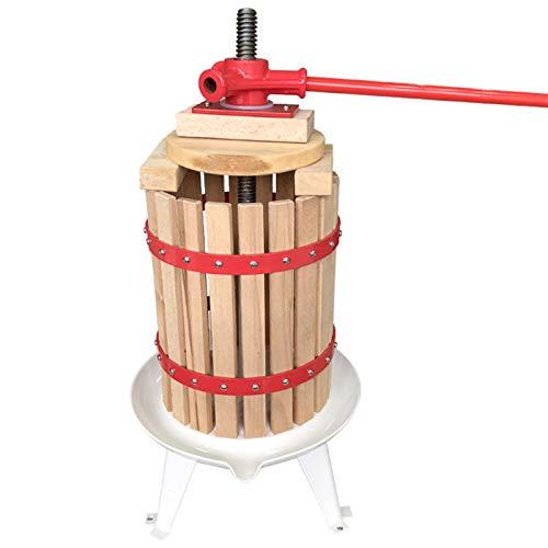Prensa Manual De Vino De Frutas De 1,6 Galones con 2 Bloques De Haya Roja Natural, Trituradora De Jugo De Sidra, Manzana, UVA