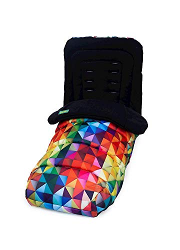 Cosatto Universal Footmuff – Cosy Toes, All Season Quilted Pushchair Liner, Washable (Spectroluxe)