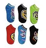 Fortnite Epic Games Boys 6 Pack Low Cut Socks, Multicolor, Large (3-9)