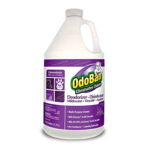 OdoBan 911162-G Disinfectant Odor Eliminator and All Purpose Cleaner Concentrate, Lavender Scent, 128 oz