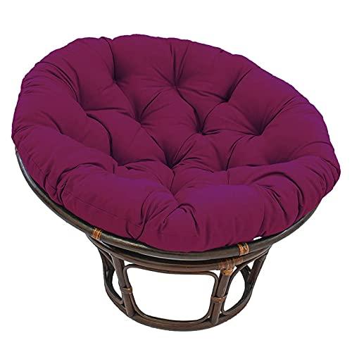 Papasan Cushion, Wicker Chair Cushion, Swing Chair Cushion, PP Cotton Filled Round Cushion, Household Floor Cushion, Outdoor Terrace Rotatable Leisure Chair Cushion ,Wine red,105cm(41.3in)