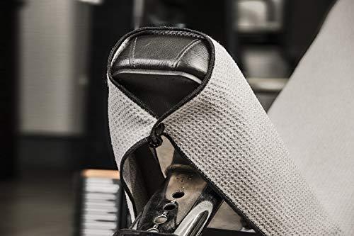 Banters Mikrofaser-Handtuch in grau für Sport und Fitness | Sporthandtuch für Workout und Kraft-Training im Fitnessstudio (mit Geschenkverpackung) - 3