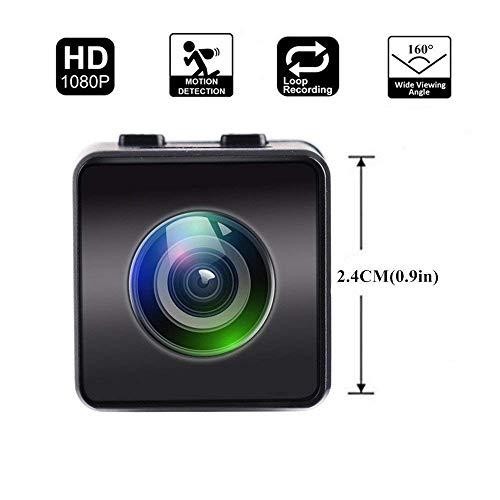 L&WB Minikamera HD 1080P FPV Micro Action Kamera Mini Versteckte Spy Cam mit DVR FOV160 °
