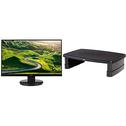 Acer K222HQLbid 21.5 Inch FHD Monitor, Black (TN Panel, 5ms, HDMI, DVI) & AmazonBasics Adjustable Monitor Stand