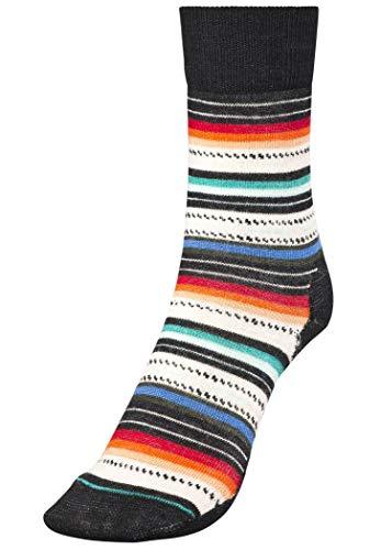 Smartwool Women's Margarita black multi stripe S (EU 34-37)