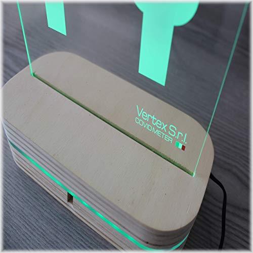 COVID METER - Made in ITALY - Distanziatore elettronico per distanziamento sociale 1 metro operatore/cliente - Sensore integrato illuminazione ROSSA e VERDE + Suono distanza ridotta