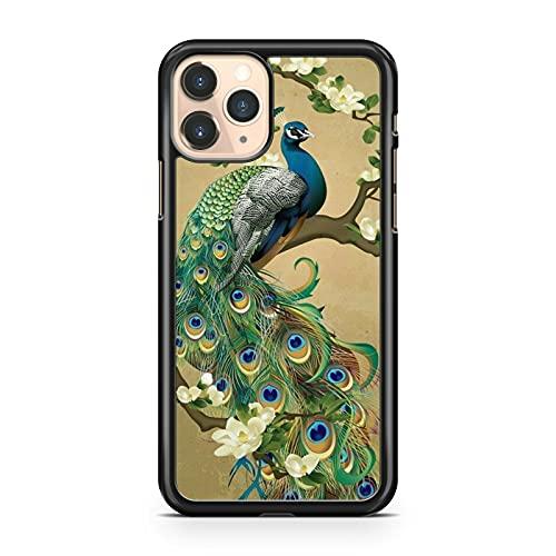 Elegante carcasa de pavo real con diseño de pájaros y plumas coloridas flores (modelo de teléfono: compatible con Samsung Galaxy J5 (2017)