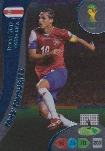FIFA World Cup 2014 Brazil Adrenalyn XL Bryan Ruiz Fans Favourite