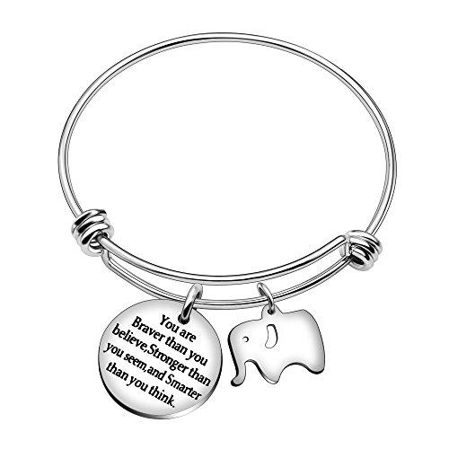 AGR8T Las mejores pulseras de brazalete de amigo You Are Braver Stronger Smarter Than You Think