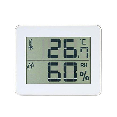 MagiDeal Mini Thermomètre Hygromètre Intérieur Digital avec Ecran LCD - Blanc