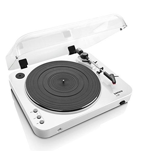 Lenco L-85 Belt-drive audio turntable Color blanco - Tocadiscos (Color blanco)