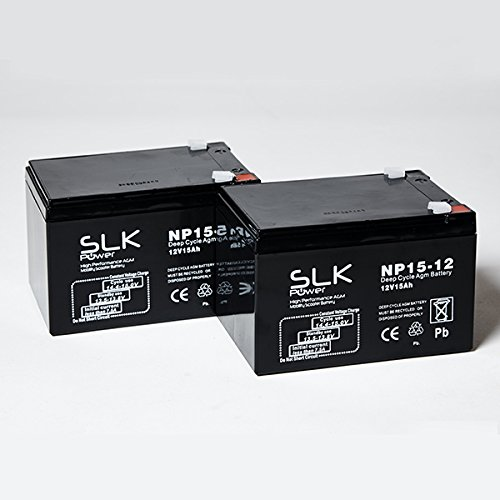 Pair of Mobility Scooter Batteries - 12v x 10ah, 12ah, 15ah, 17ah, 22ah, 24ah, 33ah, 36ah, 40ah, 50ah, 55ah, 75ah (15AH)