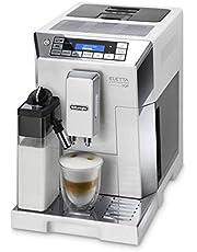 ماكينة صنع القهوة الاوتوماتيكية لصنع الكابتشينو من ديلونجي ايليتا، لون ابيض، Ecam 45.760.W