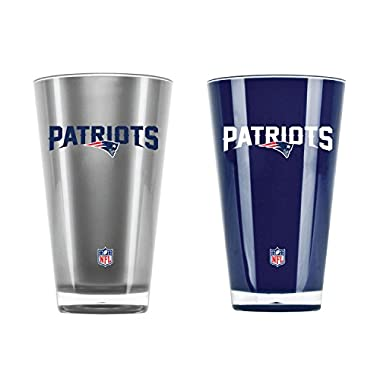 Duck House NFL New England Patriots 20oz Insulated Acrylic Tumbler Set of 2
