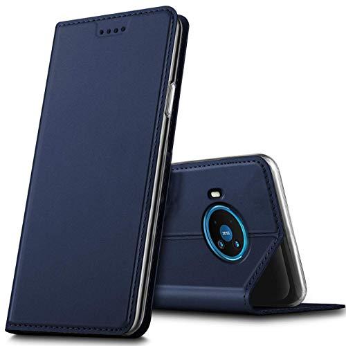 Verco Handyhülle für Nokia 8.3 5G, Premium Handy Flip Cover für Nokia 8.3 Hülle [integr. Magnet] Book Hülle PU Leder Tasche, Blau