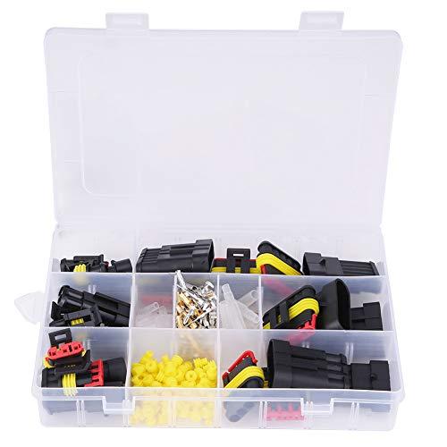 Juego de fusibles de hoja para camión de coche, plástico Aramox resistente al agua 1 2 3 4 5 6 pines Terminal eléctrico de coche Conector de cable Kit de fusible