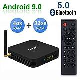 Android 9.0 TV Box TX6 TV Box 4GB RAM Allwinner H6 up to 1.5 GHz Quad Core Arm Cortex-A53 6K 2.4G+5G WiFi BT 5.0 Smart TV Box (32GB 2.4Ghz & 5Ghz WiFi)